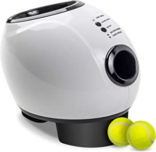 Paws & Pals Automatic Dog Ball Launcher Toy – Interactive Throw and Fetch Mini Tennis Balls Machine with Treat Dispenser – Launches up to 30 feet