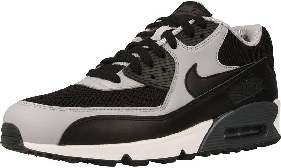 Nike, Uomo, Air Max 90 Essential, Pelle/Mesh, Sneakers, Nero, 40 ...