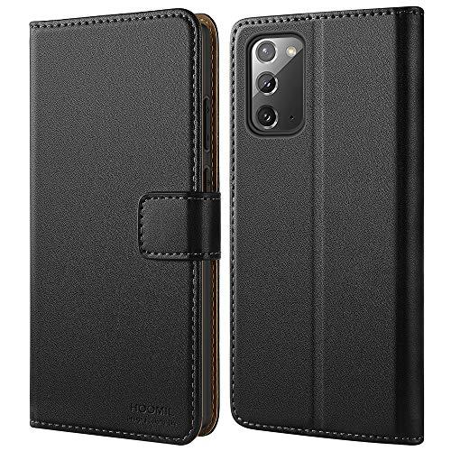 HOOMIL Handyhülle für Samsung Galaxy Note 20 Hülle, Premium PU Leder Flip Case Schutzhülle für Samsung Galaxy Note 20/Galaxy Note20 5G Tasche, Schwarz