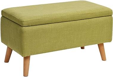 Shuai Furniture Multifunction Storage Stool Wooden Cloth Practical Ottoman Footstool Highly Elastic Sponge Filling Upholstere