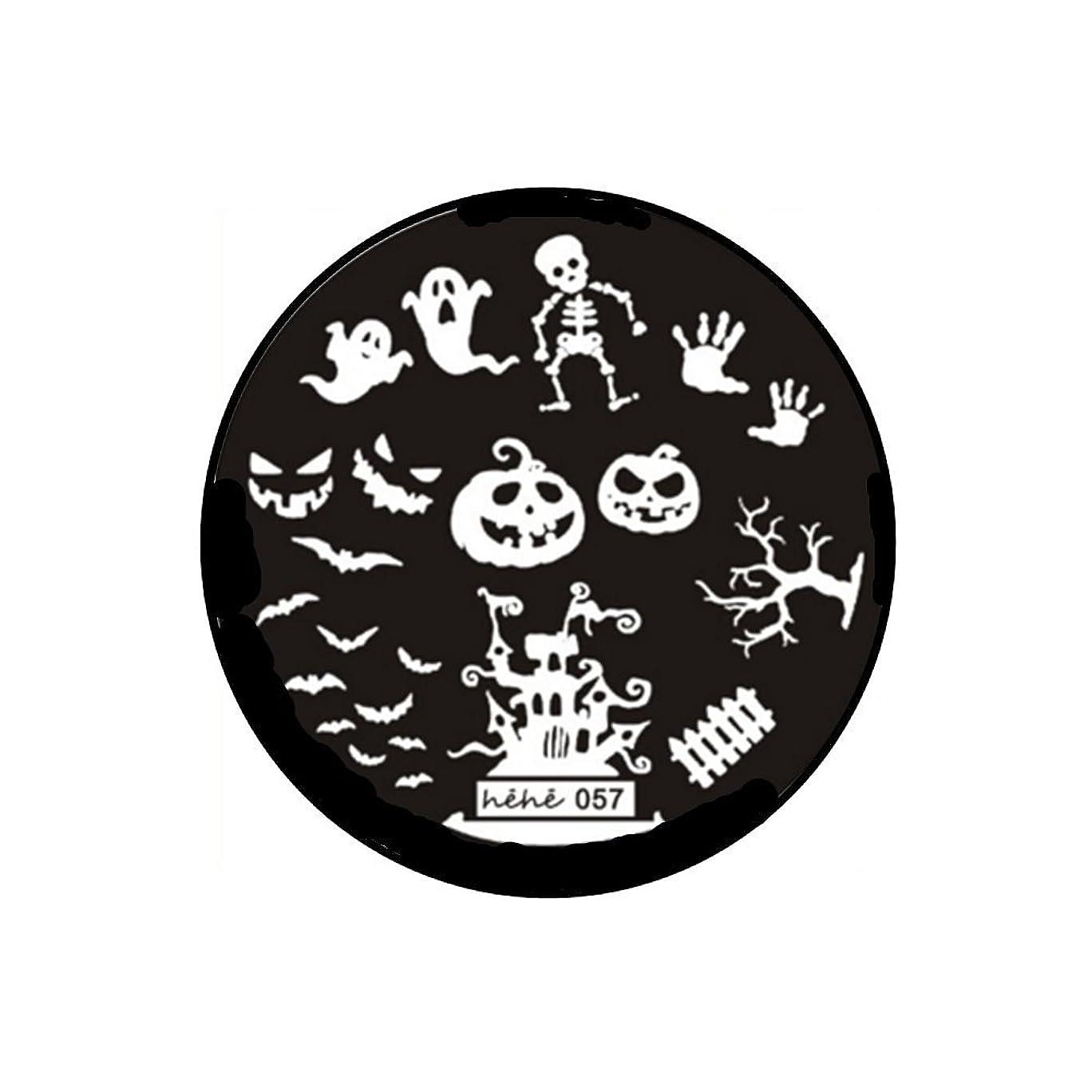 浮く究極の柱1枚 スタンピングプレート 【 ハロウィンテーマ ネイル ジェルネイル ネイルアート ネイルスタンプ ネイル スタンプ 】heheイメージプレート