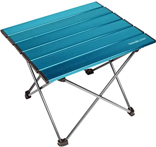 Trekology Portable Camping Table with Aluminum Table Top, Hard-Topped Folding Table in a Bag for Picnic, Camp, Beach, Usef...