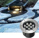 Luces de estanque llevadas subacuáticas empotradas sumergibles Luces de piscina 12 V impermeable IP68 acero inoxidable luces subacuáticas para estanque, piscina, iluminación subacuática