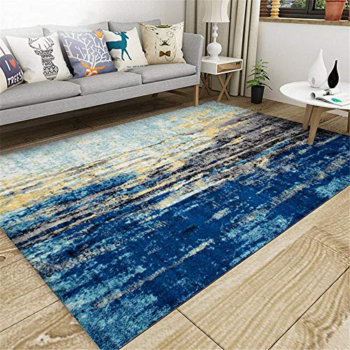 AU-SHTANG Antideslizante alfombras Alfombra Azul, fácil de Mantener, decoración de la casa cómoda, Alfombra fácil de Limpiar Alfombra de Fitness -Azul_Los 200x300cm