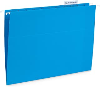 Blue Summit Supplies Hanging File Folders, 25 Reinforced Hang Folders, Designed for Home and Office Color Coded File Organization, Letter Size, Blue, 25 Pack