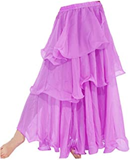 Falda larga, Tres capas, para bailar samba, danza del vientre