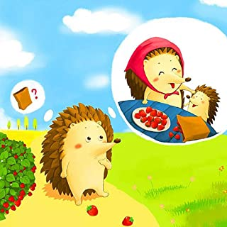 5D Diamond Painting Kits for Adults, Kids. Home Decoration, Room, Office, Gift for Her Him Hedgehog Thinking Strawberries 11.8x11.8in 1 Pack by Toyvip