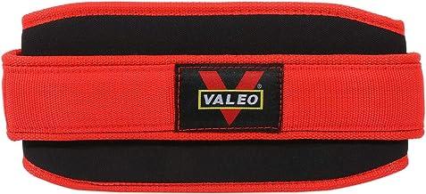 VALEO Nylon EVA Weightlifting Belt, AL160, Red, S
