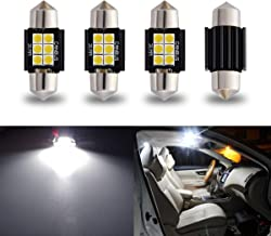 """iBrightstar Newest 9-30V Extremely Bright DE3175 DE3021 Festoon Error Free 1.25"""" 31mm LED for Interior Map Dome Lights and..."""