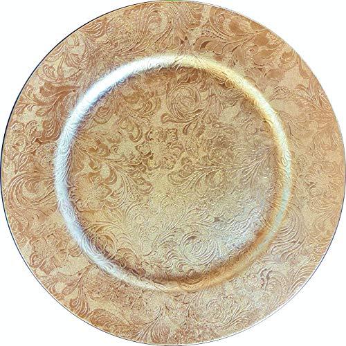 Nataluna Unterteller aus Polypropylen rund Ø ca. 33 cm (Gold).