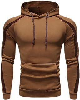 Men's Casual Plain Long Sleeve Pullover Hoodie Sweatshirt Tops