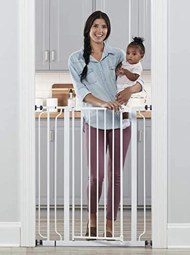 Regalo Easy Step Extra Tall Walk Thru Baby Gate, Includes 4-Inch Extension Kit, 4 Pack of Pressure Mount Kit and 4 Pa...