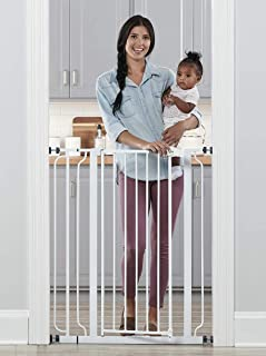 Regalo Easy Step Extra Tall Walk Thru Baby Gate, Includes 4-Inch Extension Kit, 4 Pack of Pressure Mount Kit and 4 Pack Wa...