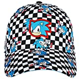 Bioworld Youth Sonic The Hedgehog Checkered Flag Snapback Hat