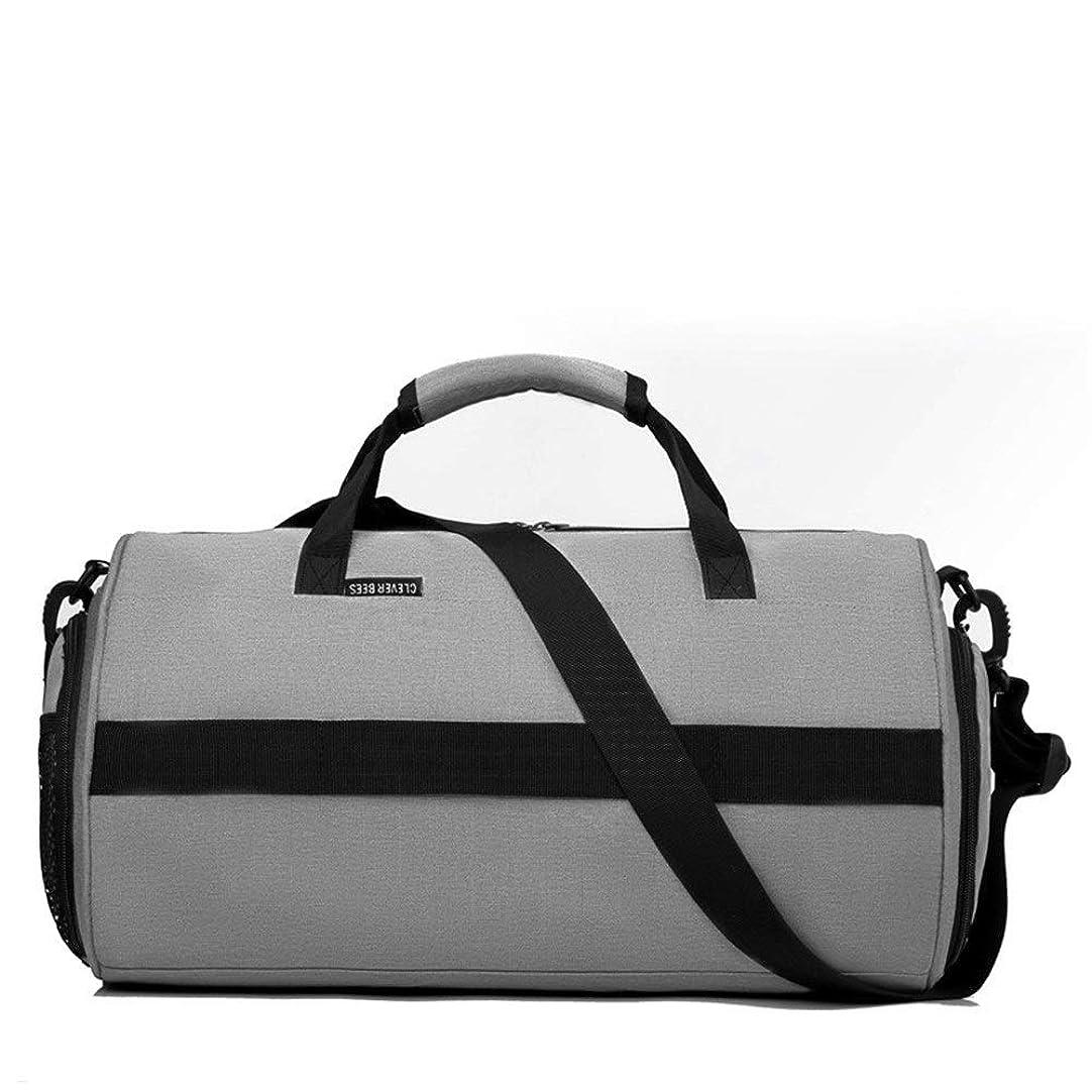 絞る九聡明Sikurery ジムバッグダッフルバッグユニセックススポーツフィットネスリュックヨガトレーニングバッグドライとウェットの分離バッグトラベルダッフルバッグ (色 : Gray)
