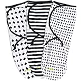Ziggy Baby Lot de 3 couvertures à emmailloter 100% coton pour bébé Unisexe...