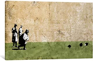 Banksy Bombing Middle England Wall Art Canvas Print by CanvasBy 50x33cm/3.5cm Deep
