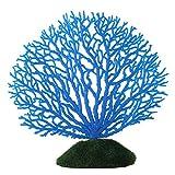 Plantas Artificiales Acuario Plantas acuáticas Artificiales Adorno De Planta De Coral Artificial Vívido Plástico para Acuario Bajo El Ternato De Peces Azul Jardín Azul
