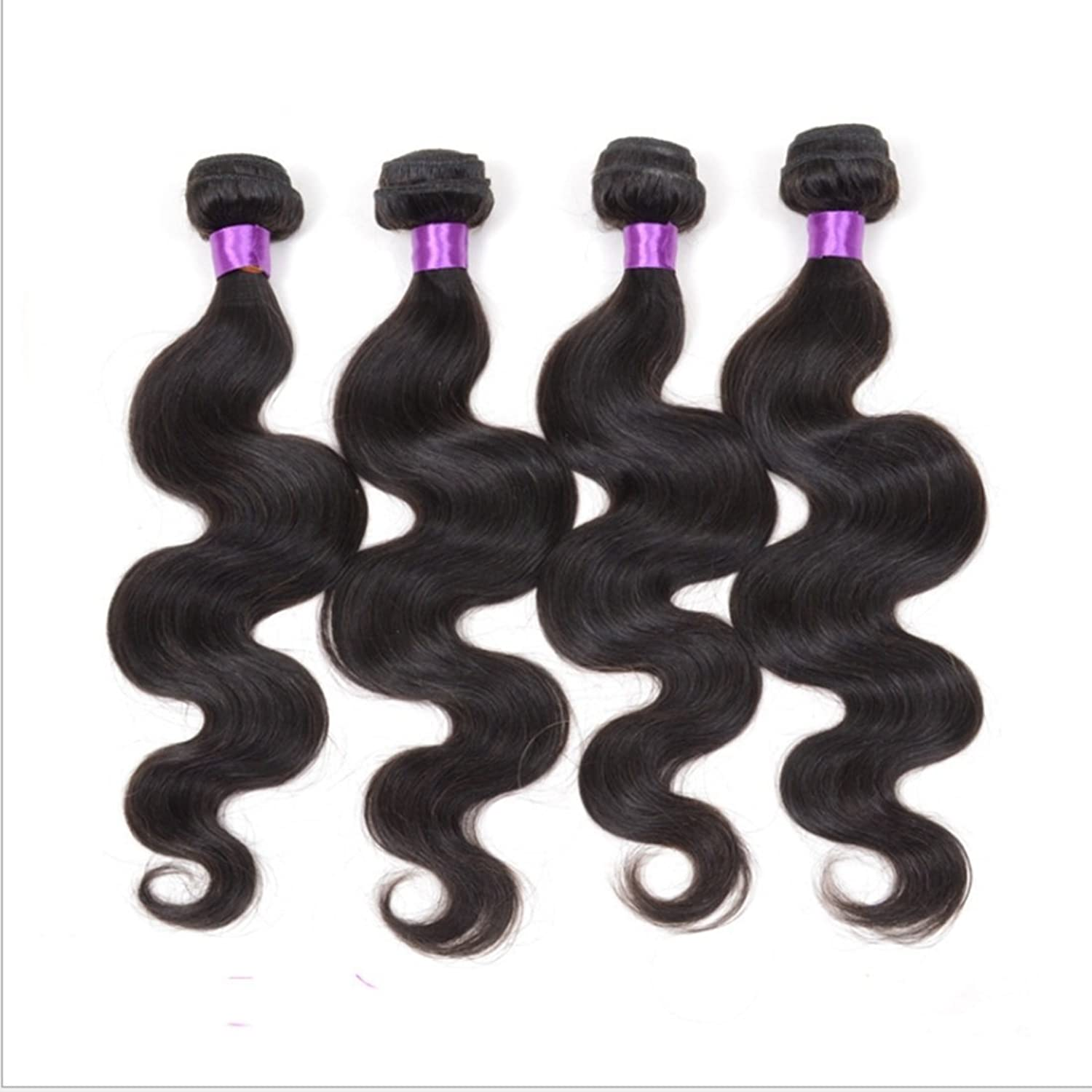 100g Body Wavy Curly Hair Curtain for Brazilian Women Human 100% Really Hair Extension color Natural Black Hot Dyed Curls of Hair Curtain DIY Fun (Size   10 inch)