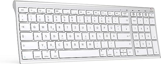 Jelly Comb Kabellose Bluetooth Tastatur, Wiederaufladbare Funktastatur mit 3 Bluetooth..