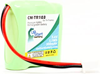 Replacement for Tri-Tronics Classic 70 Battery - Compatible with Tri-Tronics CM-TR103 Dog Training Collar Battery (300mAh 3.6V NI-MH)