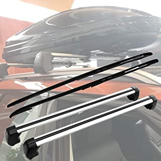 SnailAuto 4pcs Black Roof Rack Rail Cross Bar for 2017 2018 2019 Land Rover Discovery 5 L462 Cargo