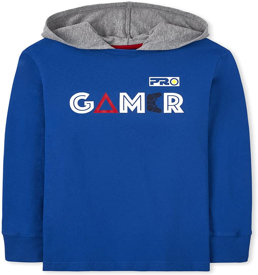The Children's Place Boys' Long Sleeve 'Gamer' Hoodie Top