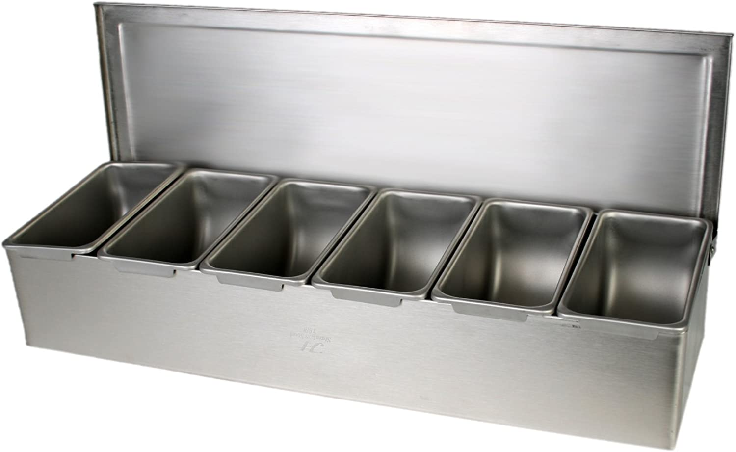 Excellante 6 Section Stainless Steel Condiment Compartment