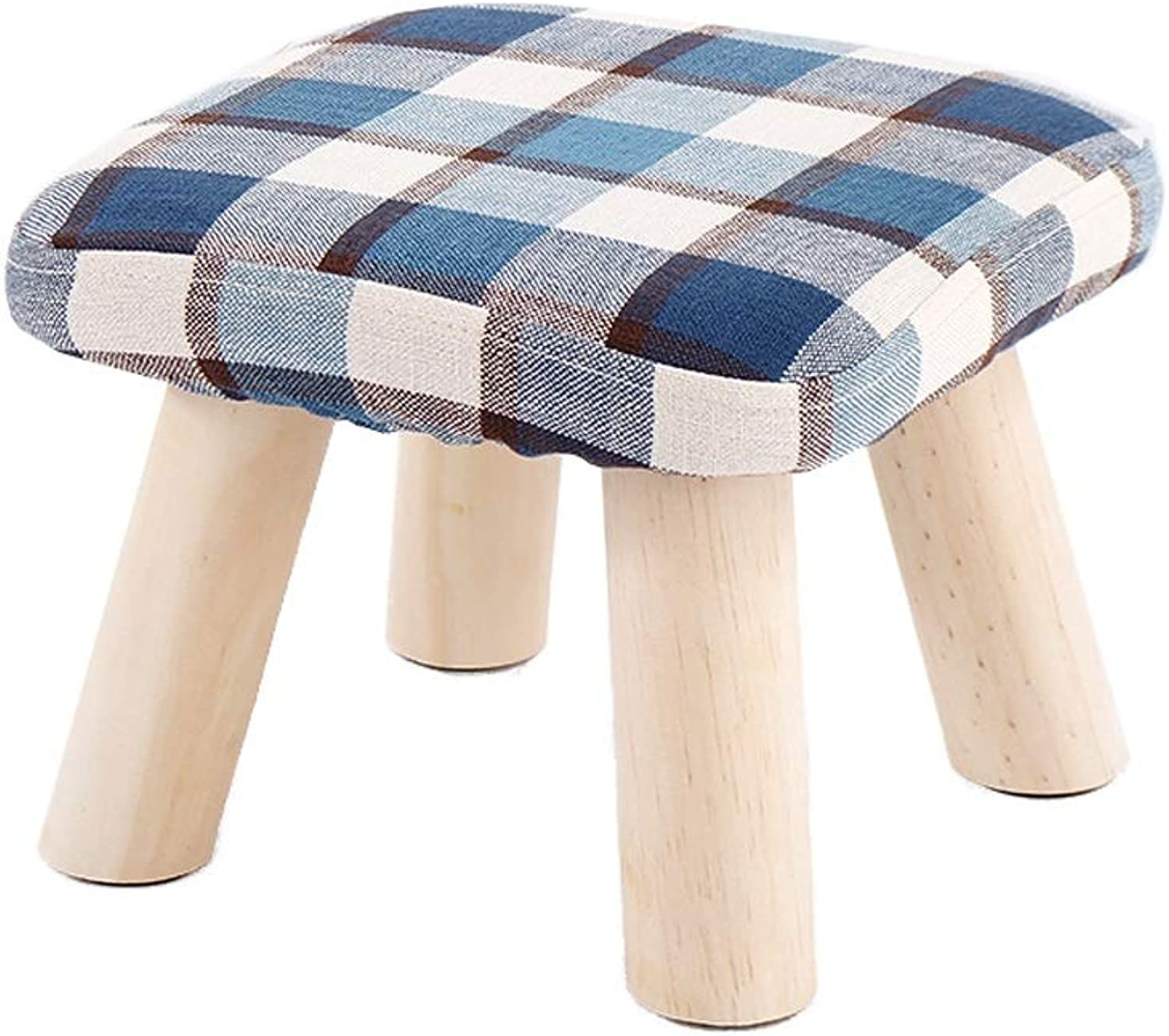 Stools shoes Bench, Sofa Bench, Solid Wood Stool, Footstool,28×28×21cm (color   C)