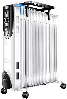 DAETNG Radiador Lleno de Aceite, Calentador eléctrico portátil, termostato Ajustable, Interruptor de Corte de Seguridad térmica, Temporizador de 24 Horas con humidificador y Estante de Secado