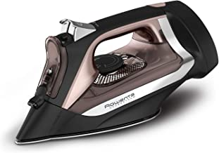 Rowenta DW2459 Access Steam Iron with Retractable Cord and Stainless Steel Soleplate, Black
