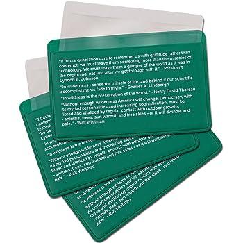 Best Glide ASE Credit Card Size Fresnel Lens Fire Starter and Magnifier Lenses (3 Pack - Green)