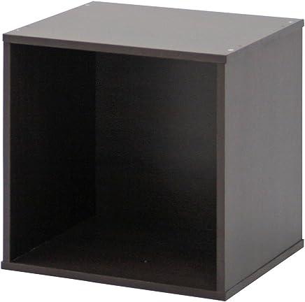 不二貿易 キューブボックス 幅34.5cm 組換え自由 ブラウン 81900