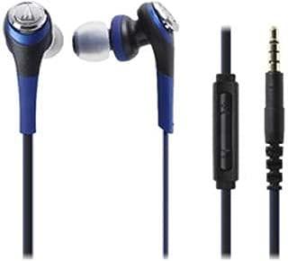 Audio Technica SOLID BASS for iPod/iPhone/iPad Inner Ear Headphones Blue ATH-CKS550i BL