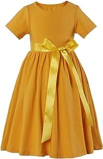 Toddler Girls Long Maxi Dress Short Sleeve Dress Floral Print with Pockets
