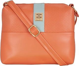 ESBEDA Two Contrasting Colors Sling Bag For Women