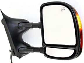 Kool Vue FD89ER Ford F-Series Super Duty/Excursion Passenger Side Towing Mirror, Double-Swing Type