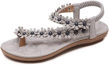 MIKA HOM Womens T Strap Thong Sandal Glitter Braid Ankle Strap (Gley 36/5.5 B(M) US Women)
