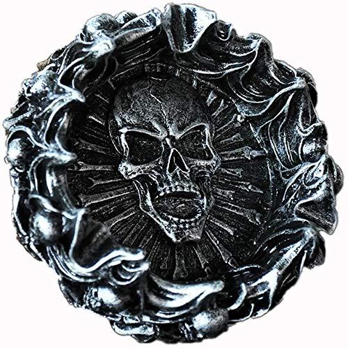 Raelf Retro esqueleto hogar ashtray tendencia multifunción masculino regalo de cumpleaños punk llama hogar cenicero multifuncional elegante niño regalo de cumpleaños decoración del hogar