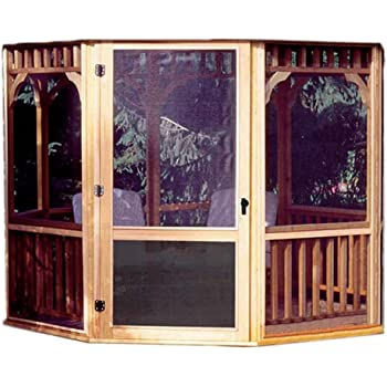 Amazon Com Handy Home Products San Marino Screen Kit For 10 Foot Gazebo Screens Door Only Garden Outdoor