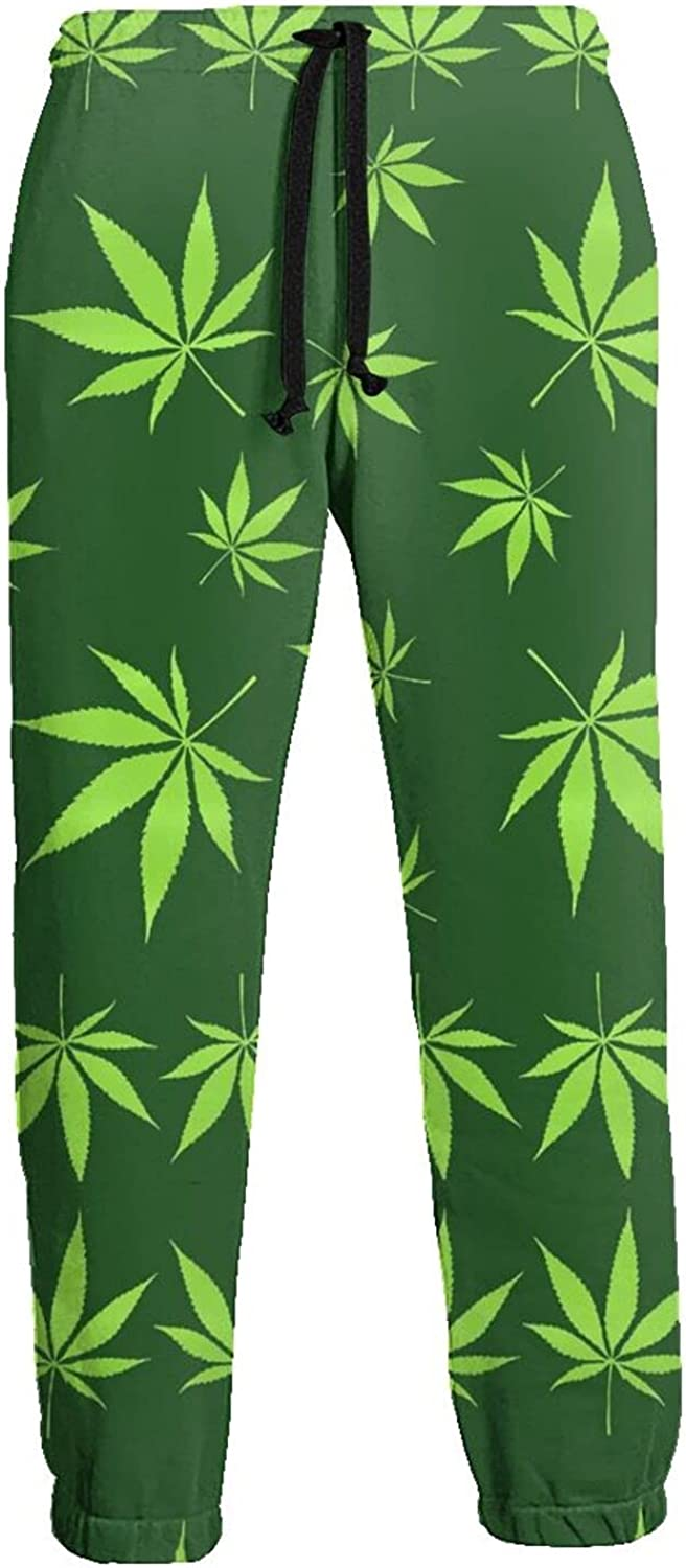 Men's Women's Sweatpants Weed Leaves Athletic Running Pants Workout Jogger Sports Pant