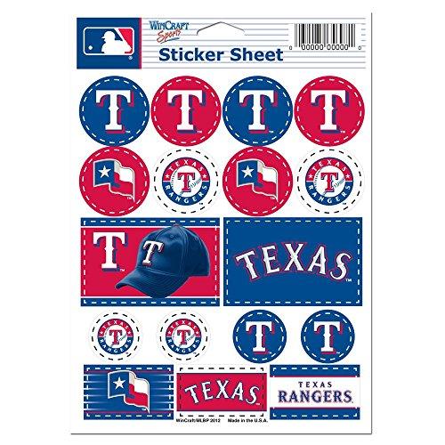 WinCraft MLB Texas Rangers Vinyl Sticker Sheet, 5' x 7'