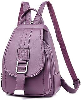 Backpack,Anti Theft Women Leather Backpacks Purse Vintage Female Bag Travel Small Backpack Lady,Purple,MultipurposeDurable