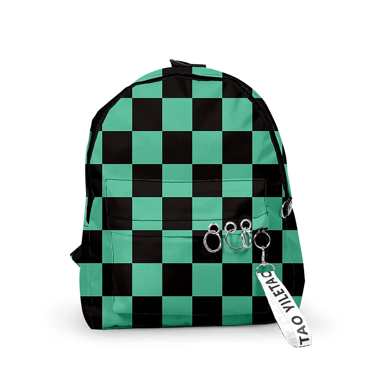 SUKLIER Demon Slayer Cosplay Backpack,For Kamado Tanjirou,Casual And Durable Children'S School Bag,For Anime Lovers,Japanese Manga Characters Bookbag Laptop Bag
