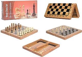 مجموعة الالعاب اللوحية الخشبية 3 في 1 لوح مجموعة الشطرنج الترفيهية الدولية تناسب لعبة الشطرنج والزهر والداما