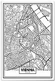 Panorama Poster Karte von Wien 35x50 cm - Gedruckt auf