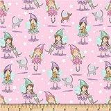 Windham Fabrics Cubby Bear Flannel Prints Kitten Tales, Yard, Pink