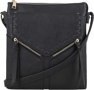 Double Compartment Purse Lightweight Medium Crossbody Bag with Multi Pocket