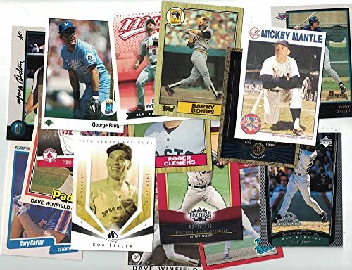 200 Baseball Cards Collection Newer Vintage Trading Cards Collection with Secure Packing Hall product image