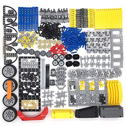 HYZM Piezas técnicas, Equipo Técnico Amortiguadores Pin de Bloqueo de Neumáticos de Conexión de Varilla de Piezas de Repuesto Ladrillos Bloques de Construcción Compatible con Lego Technic Piezas